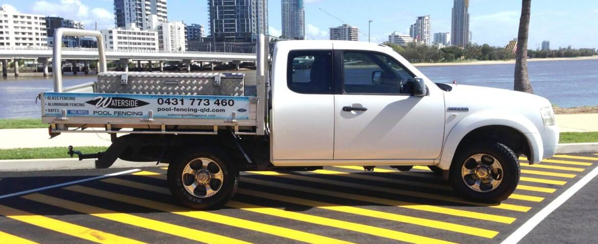Waterside Pool Fencing - Company Service Truck