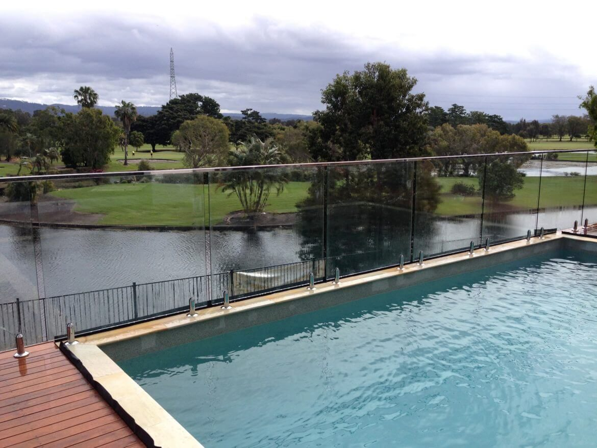 Waterside Pool Fencing - Overlooking Elegant Frameless Pool Glass Fence