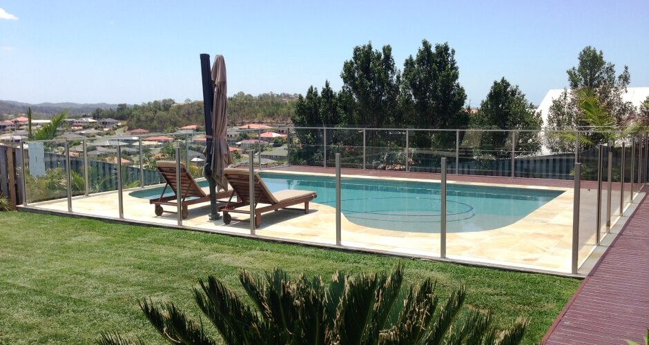 Waterside Pool Fencing - Overlooking Semi-Frameless Pool Glass Fencing