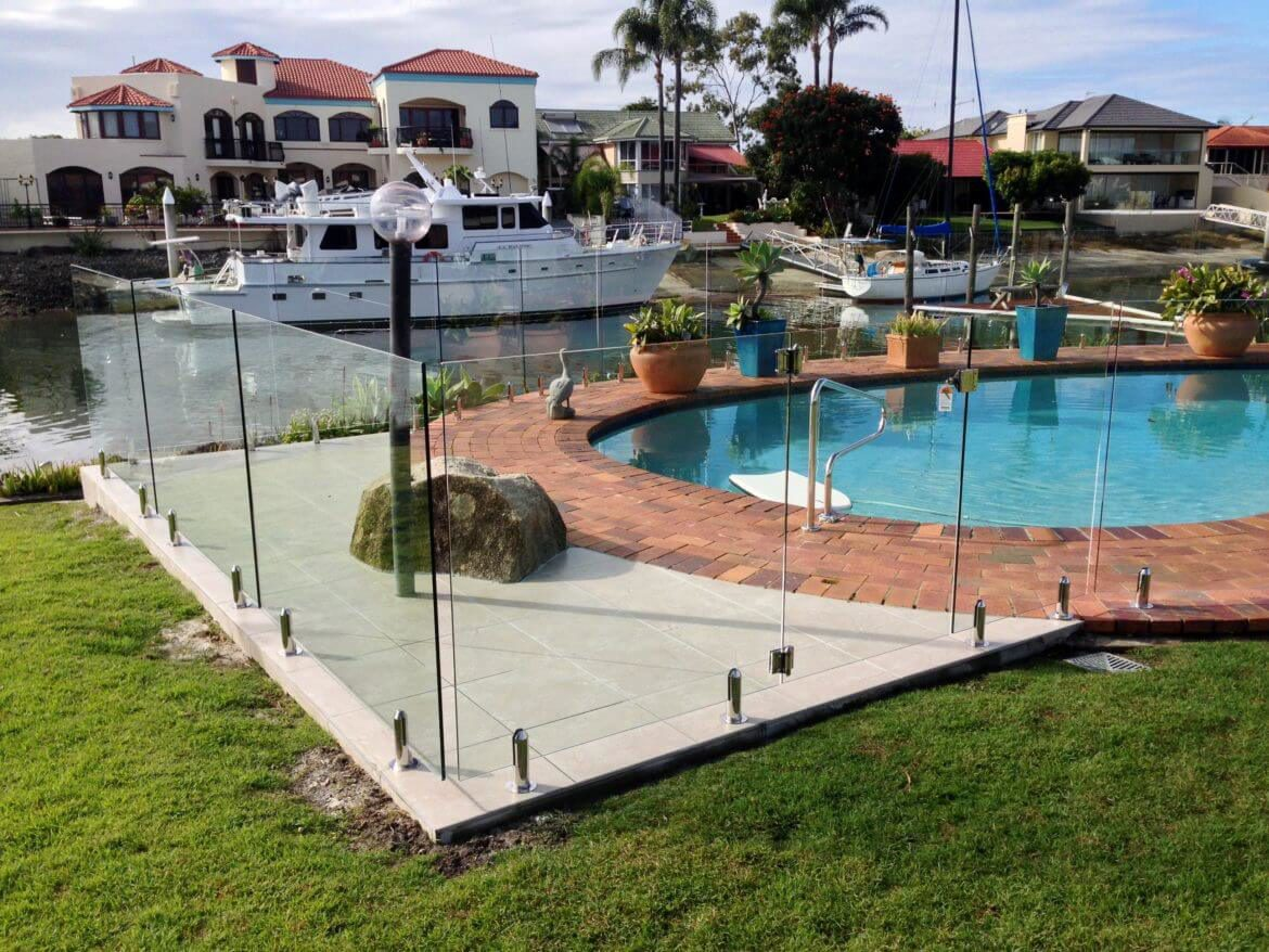 Waterside Pool Fencing - Round Frameless Pool Glass Fence
