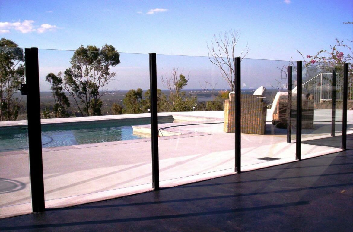 Waterside Pool Fencing - Semi-Framed Glass Poolside Fence