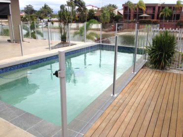 Waterside Pool Fencing - Semi-Frameless Poolside Fencing Design